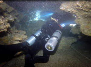 Cave diving in Moalboal